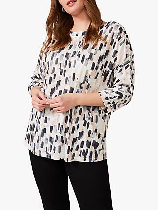 Studio 8 Florentine Abstract Print Top, Ivory/Multi