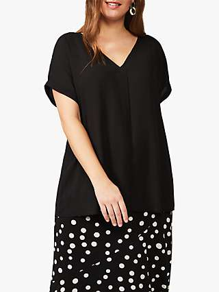 Studio 8 Myrah V-Neck Short Sleeved Top, Black