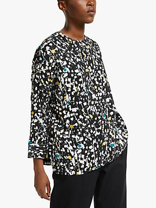 Kin Paint Print Top, Black/Multi