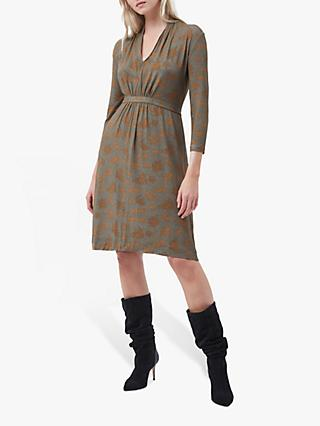 French Connection Esma Dress, Khaki/Golden Oak