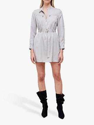 French Connection Sinni Enzo Zipped Mini Dress, Stone