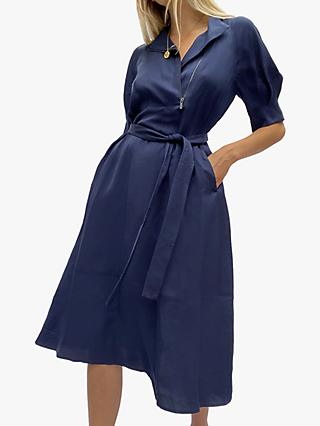 French Connection Sinni Enzo Zipped Dress, Indigo