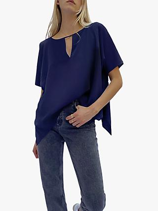French Connection Alicia Top, Utility Blue