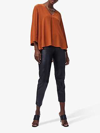 French Connection Antuca Drape Top, Toffee