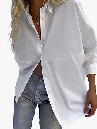 French Connection Eletti Panel Shirt, White