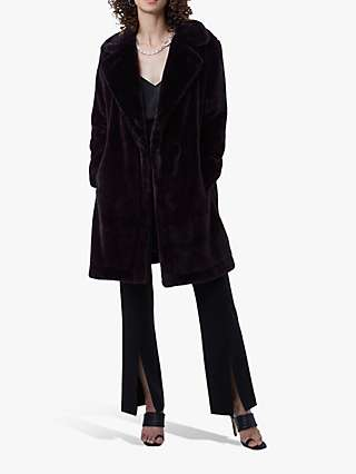 French Connection Banna Faux Fur Coat, Decadence