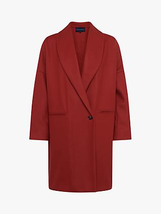 French Connection Ricio Wool Cashmere Blend Cocoon Coat