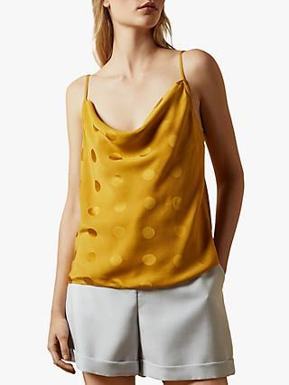 Ted Baker Raniaa Spotted Cowl Neck Cami