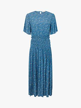 Monsoon Darcita Floral Maxi Dress, Blue