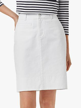 Hobbs Maeva Front Pocketed Mini Skirt, White