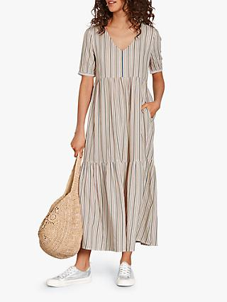 hush Valenti Striped Tiered Maxi Dress, Multi