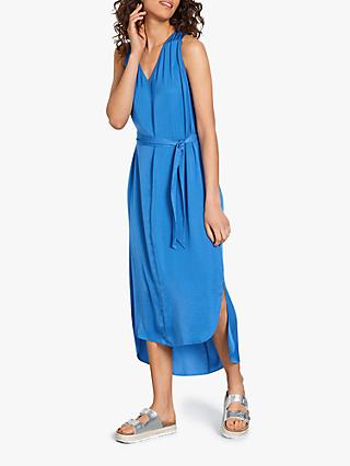 hush Perry Cross Over Back Midi Dress, Bright Blue