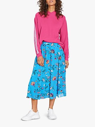 hush Martina Butterfly Floral Midi Skirt, Blue