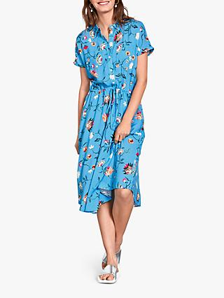 hush Hattie Butterfly Floral Shirt Dress, Blue