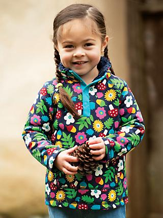 Frugi Children's Organic Cotton Floral Print Snuggle Fleece, Multi