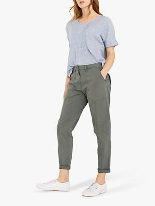 White Stuff Honiton Rolled Hem Utility Trousers