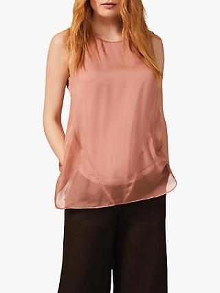 Phase Eight Leowa Silk Sleeveless Blouse, Blush