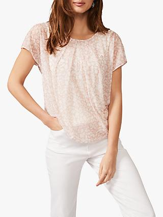 Phase Eight Livi Florentine Print Top, Soft Pink