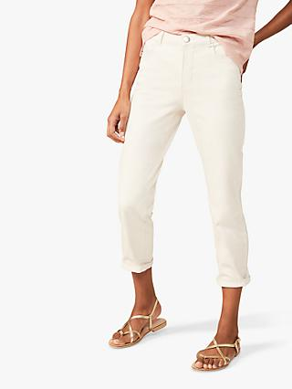 Phase Eight Ramona Straight Leg Jeans, Ecru