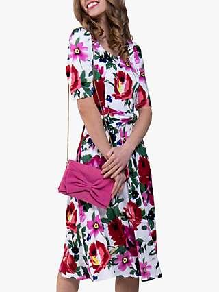 Jolie Moi Floral Tea Dress, Pink