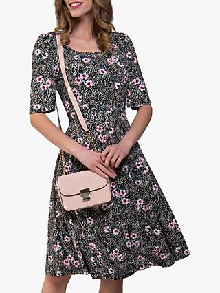 Jolie Moi Scoop Neck Skater Dress, Floral/Multi
