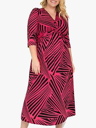 Jolie Moi Twist Front Jersey Maxi Dress, Pink/Multi