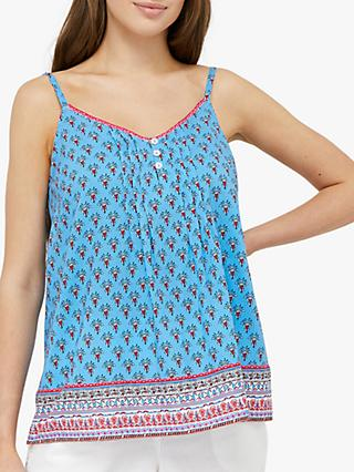 Monsoon Dahlia Printed Cami, Blue