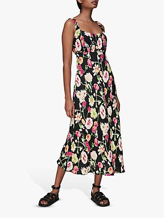 Whistles Maila Electric Floral Print Dress, Black/Multi