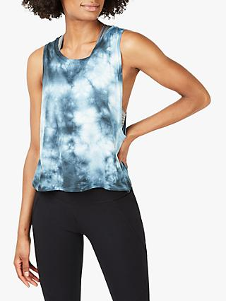 Sweaty Betty Swing Gym Vest, Beetle Blue Tie Dye