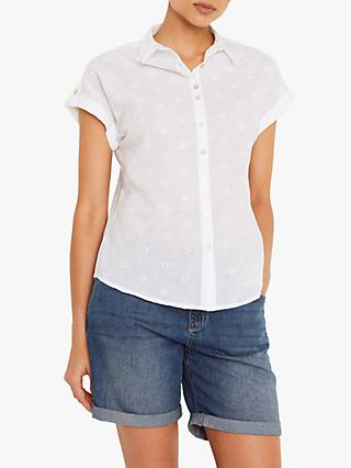 White Stuff Emi Spot Shirt, White