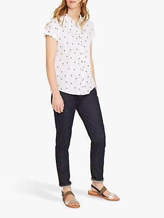 White Stuff Emi Star Shirt, White