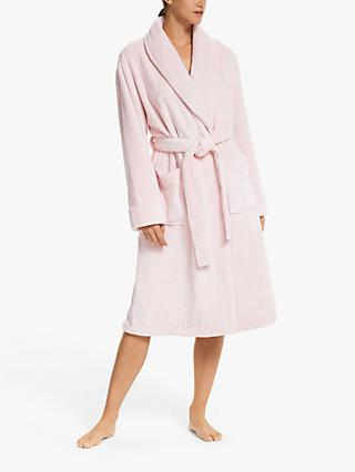 John Lewis & Partners Mini Stripe Plush Robe