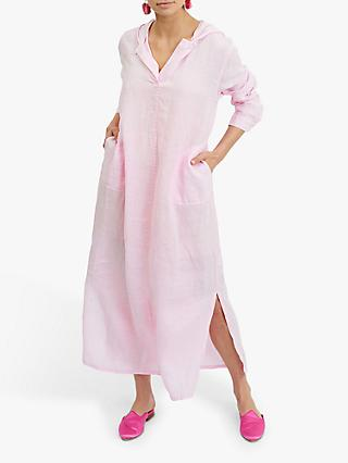 NRBY Sophie Linen Hooded Maxi Dress