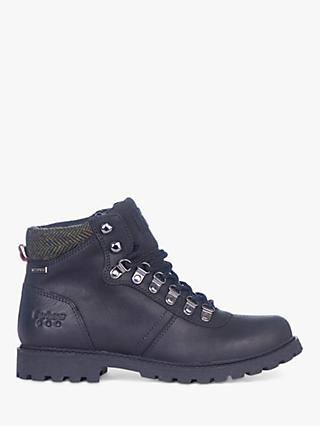 Barbour Elsdon Waterproof Leather Hiker Boots, Black