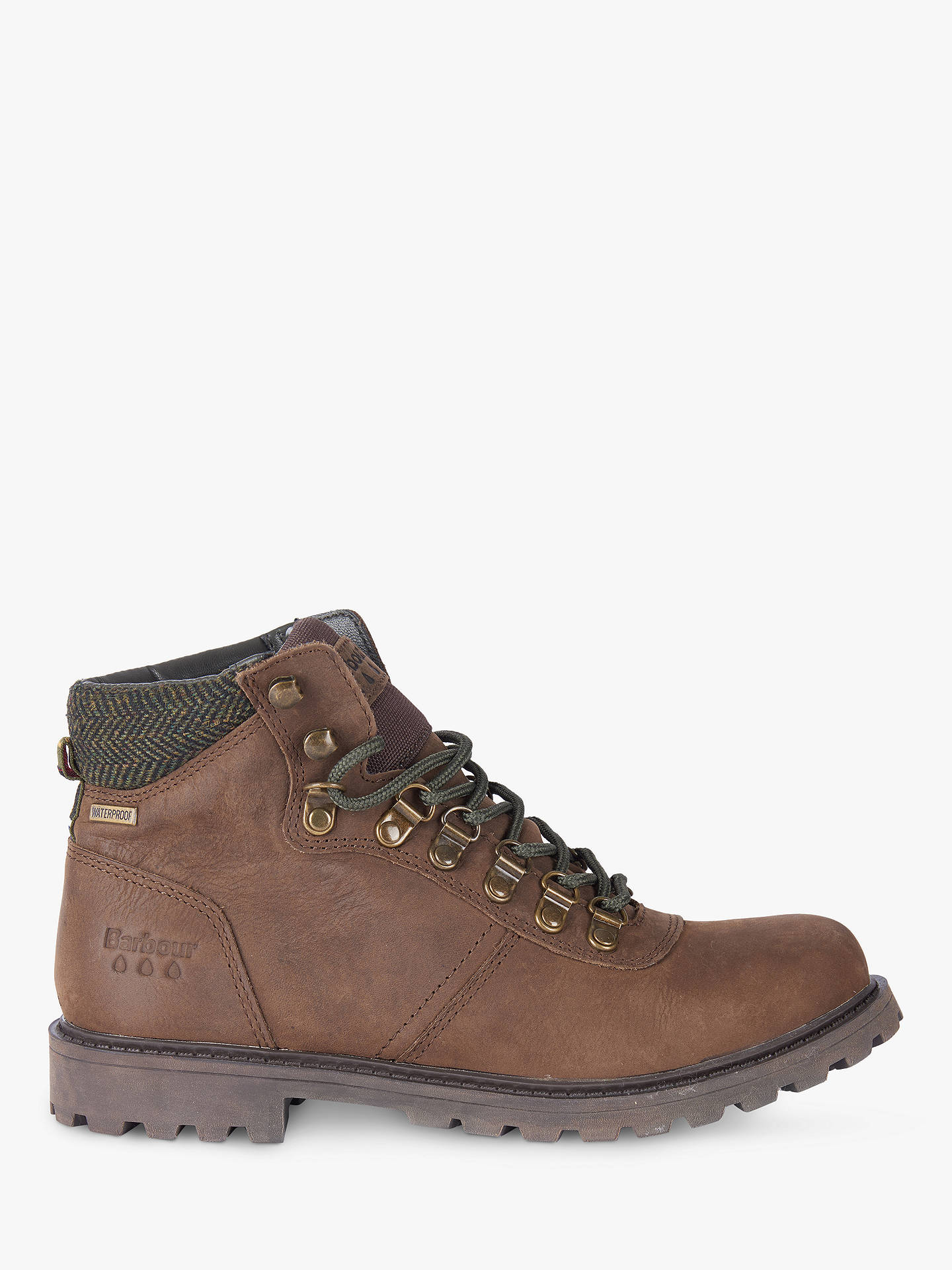 Buy Barbour Elsdon Waterproof Leather Hiker Boots, Brown, 7 Online at johnlewis.com