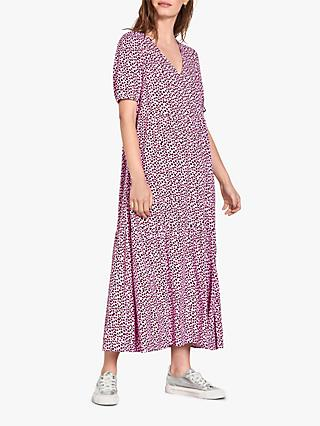 hush Penelope Printed Tiered Maxi Dress