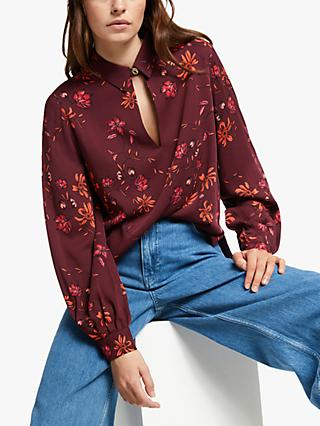 Mother of Pearl ECOVERO™ Winter Floral Keyhole Blouse, Multi