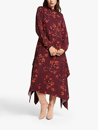 Mother of Pearl ECOVERO™ Winter Floral High Neck Dress, Multi