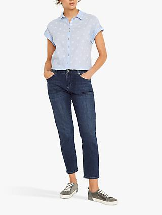 White Stuff Emi Spot Shirt, Blue