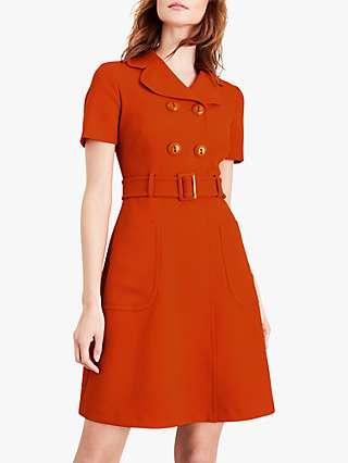 Damsel in a Dress Renu A-Line Belted Dress, Orange