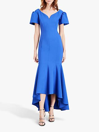 Damsel in a Dress Maddi Bardot Maxi Dress, Cornflower