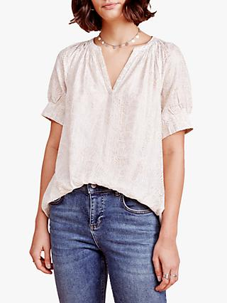 East Farah Foil Top, White