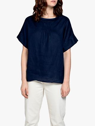 East Bardot Top, Navy