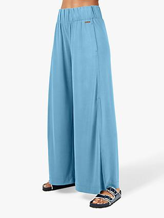 Sweaty Betty Peaceful Split Wide Leg Trousers, Stellar Blue