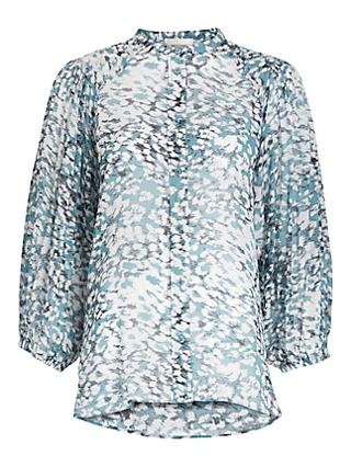 Second Female Cloud Print Blouse, Blue