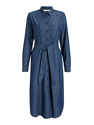 Numph Brinsley Shirt Dress, Moonlight