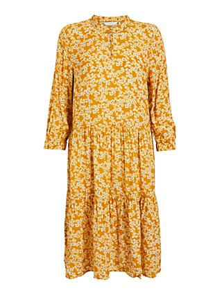 Numph Bijou Floral Print Dress, Buck Brown