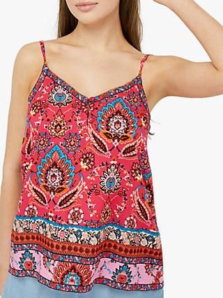 Monsoon Tamalia Print Cami, Pink