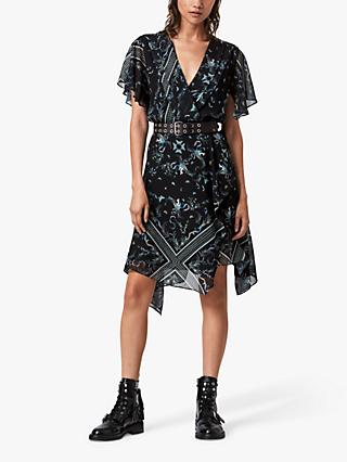 AllSaints Kaya Assam Dress, Black