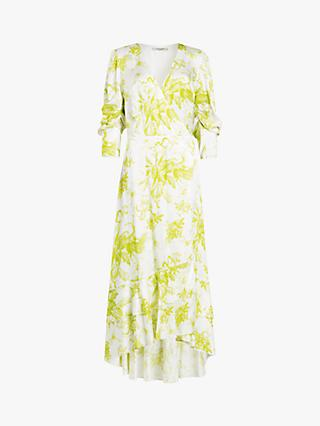 AllSaints Tage Floral Dress, Chartreuse Yellow